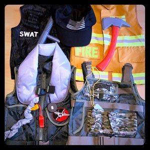 Other - Set of 4 Vests (Fire,SWAT, Army, Pilot)